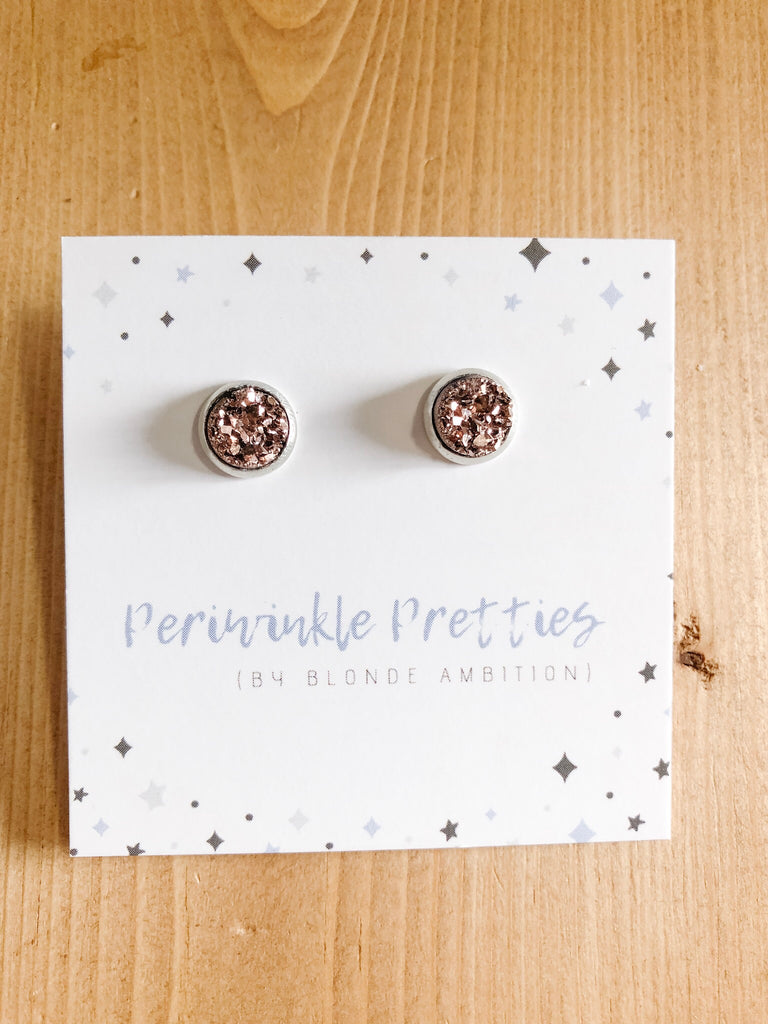 8mm Towering Twinkle Earrings - Bronze #76 - Blonde Ambition