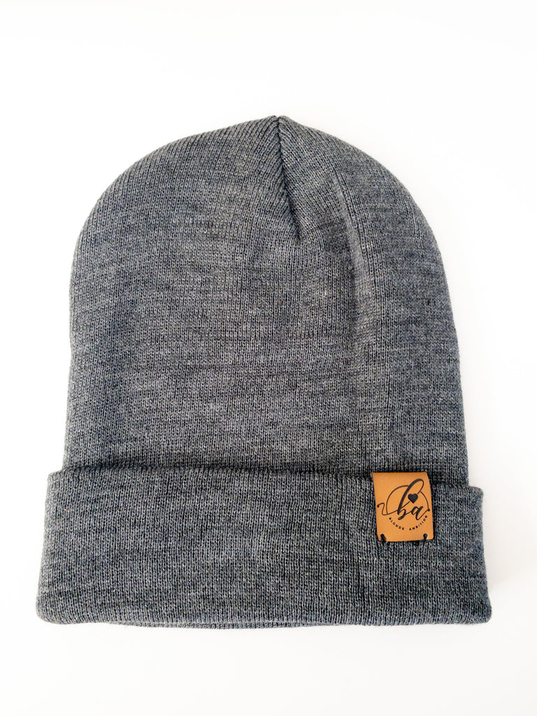 Basic Cuff Toque - Charcoal