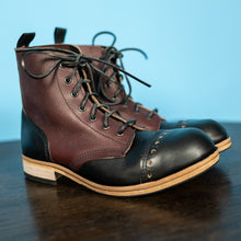 Handmade Town and Country Black/Ox - Blood Leather Boots