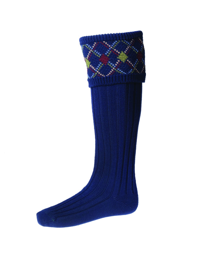 House of Cheviot Melrose Socks - Navy