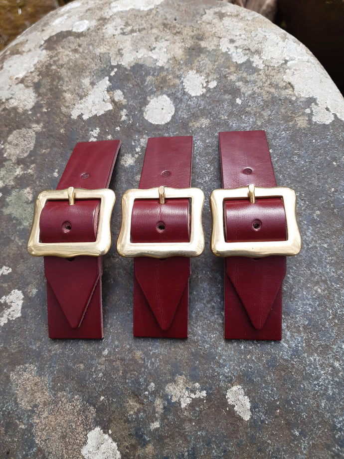Herd of Sporrans - Burgundy Leather Kilt Straps Set Of Three