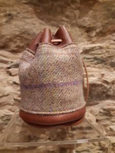 Tweed - Brown Handmade Leather Drawstring Coin Pouch