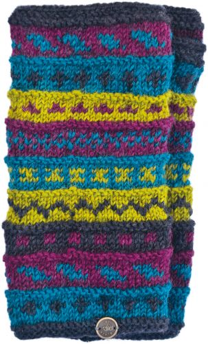 Hand Knit Wrist Warmers - Jewels
