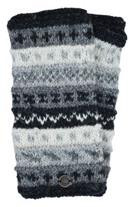 Hand Knit Wrist Warmers - Natural