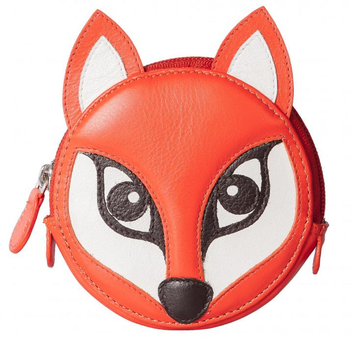 Leather Fox Design Purse