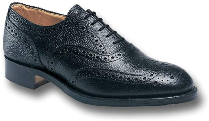 Sanders Black Braemar Highland Brogue Shoes