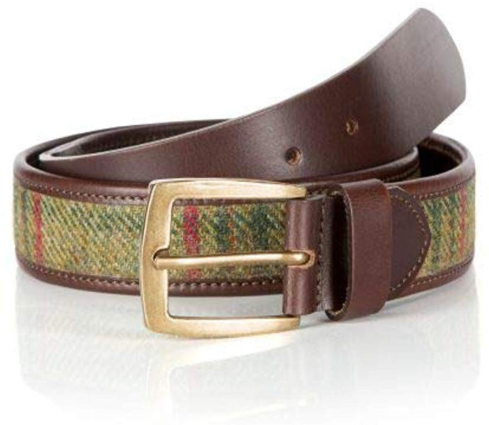 Classic Green Islay Tweed Belt