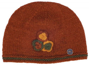 Three Flower Beanie - Autum