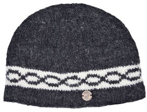 Hand Knitted Classic Beanie Charcoal