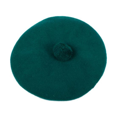Beret Tam Pom Pom - Bottle Green