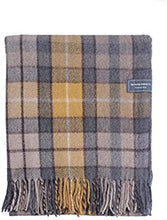 Recycled Wool Blanket Buchanan Natural Tartan