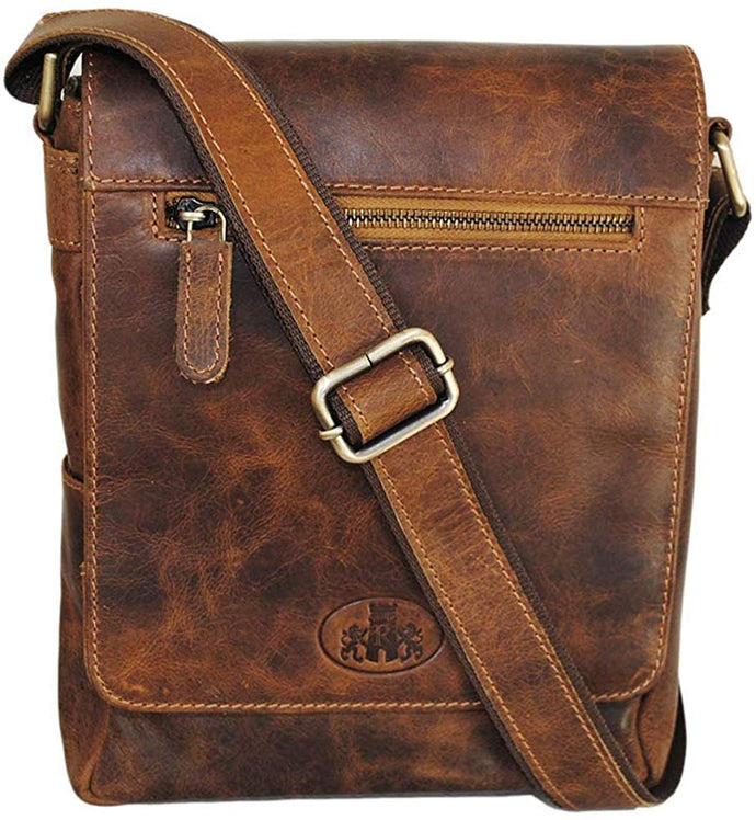 Bavaria Camel 3/4 Flap Shoulder Bag