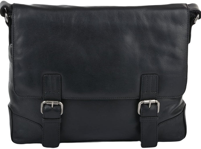 Ashwood Leather Laptop Satchel Black