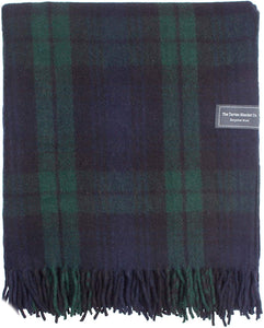 Recycled Wool Blanket Black Watch Tartan