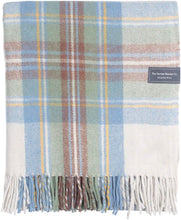 Recycled Wool Stewart Muted Blue Tartan