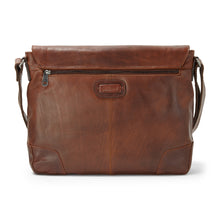 Leather Laptop Satchel Tan Oscar