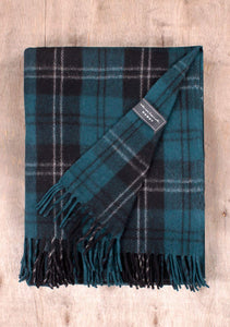 Recycled Wool Blanket Ramsay Blue Tartan