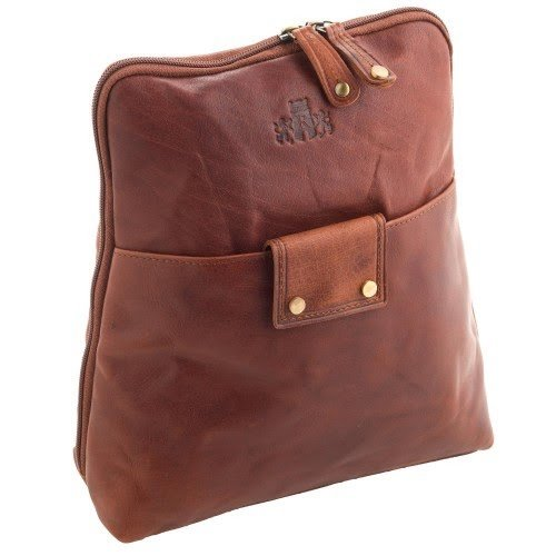 Rowallan Front Pocket Cognac Backpack
