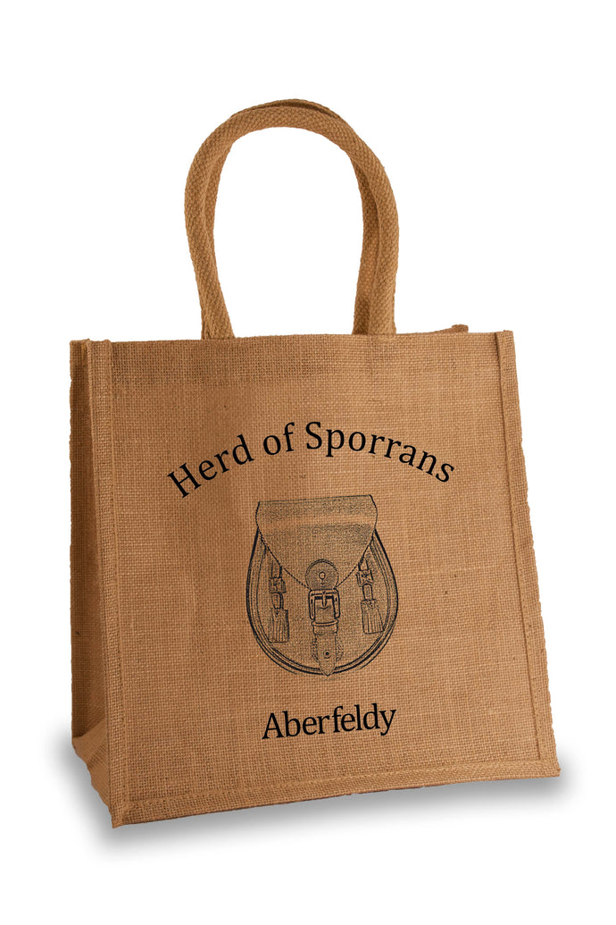 Herd of Sporrans Jute Bag