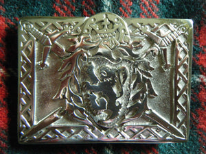 Handmade Scottish Kilt Belt Buckle Lion Crossed Swords