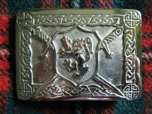 Handmade Scottish Rampant Lion Kilt Belt Buckle Pewter