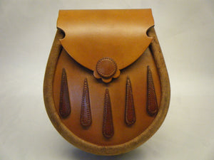 Handcrafted Tan & Urban Hide Leather Earn Sporran