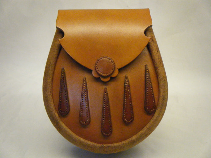 Herd of Sporrans - Handcrafted Tan & Urban Hide Tear Drops Leather Earn Sporran