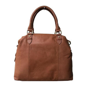 Rowallan Tan Leather Twin Buckle Bag