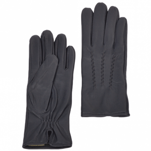 Ladies Navy Leather Gloves