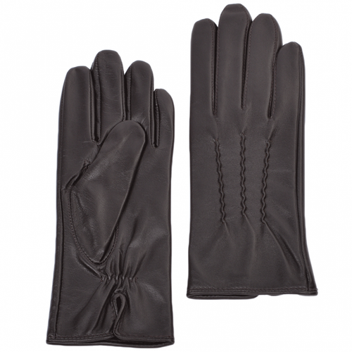 Ladies Plum Leather Gloves
