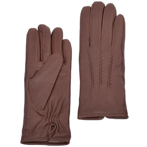 Ladies Tan Leather Gloves