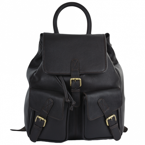 Ashwood Brown Tumbled Leather Rucksack