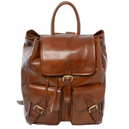 Large Leather Chestnut Ashwood Backpack
