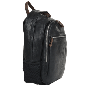 Black Leather unisex Ashwood Backpack