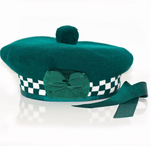 Balmoral Diced Scottish Bottle Green Hat