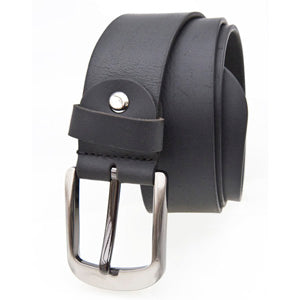 Leather Black Classic Jeans  Belt