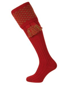 House of Cheviot Boughton Socks - Brick Red
