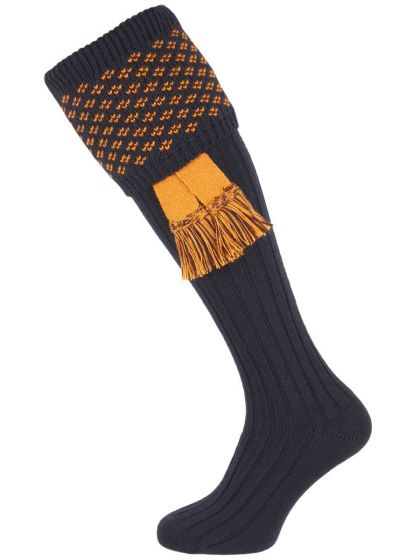 House of Cheviot Boughton Socks - Navy