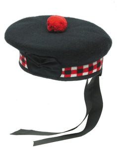 Balmoral Diced Scottish Black Hat