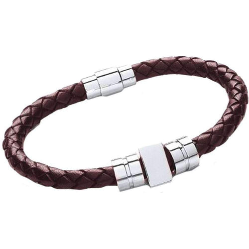 Men's Leather Bracelet - Brown