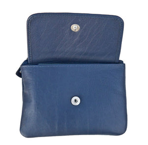 Mini Leather Navy Blue Coin Purse