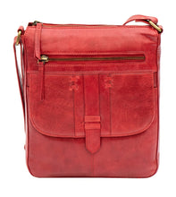 Ladies Red Crossbody Leather Bag
