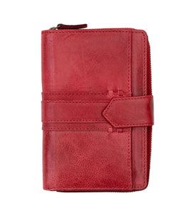 Ladies Red Tab Leather Purse