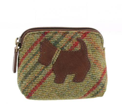 Islay Tweed Classic Green Scottie Coin Purse.