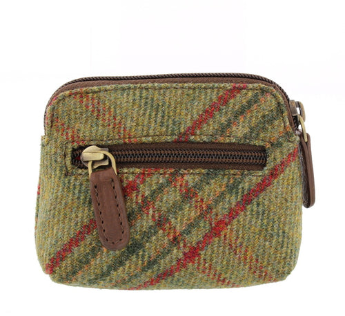 Classic Green Islay Tweed Coin Purse.