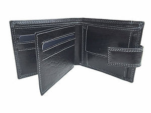 Gents Black Tab Leather Wallet