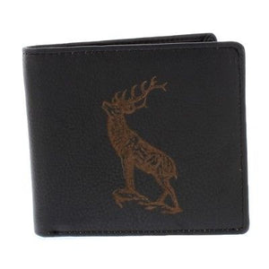 Engraved Leather Stag Wallet