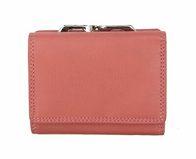 Ladies Dusty Pink Leather Top Clip Purse