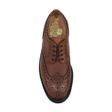 Sanders Waxy Brown Derby Brogue Shoes