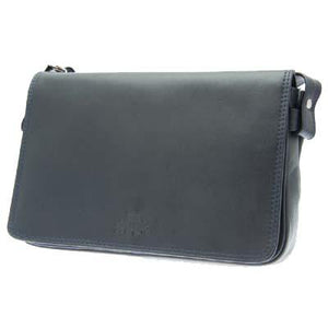 Ladies Full Black Flap Leather Bag